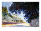 Landscape, Olive Trees, Corfu 1909 Premium Giclee Print by Eugène Boudin