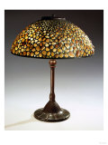 A Rare 'Pebble' Leaded Glass, Stone and Bronze Table Lamp Giclee Print by Guiseppe Barovier
