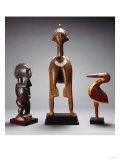 A Baga Dance Crest, Ra-Bomp Ra-Feth, a Baga Female Figure and a Fine Baga Bird, A-Bemp Poster