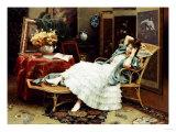 Repose, 1888 Premium Giclee Print by Julius Leblanc Stewart