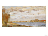 The Seine at Argenteuil, 1872 Giclee Print by Claude Monet