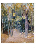 Wooded Interior Giclee Print by Eugène Boudin