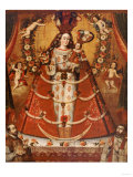 Our Lady of the Rosary, Nuestra Senora Del Rosario, Anonymous Cuzco School, 18th Century Giclee Print by Jose Agustin Arrieta