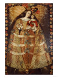 The Virgin of Pomata with a Rosary. Virgen De Pomata Con Rosario, 18th Century Posters by Jose Agustin Arrieta