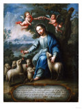 The Good Shepherd, El Buen Pastor, 1765 Posters by Miguel Cabrera