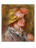 Young Woman in a Flowery Hat (Portait of Andree), Circa 1917 Art by Emilio Boggio