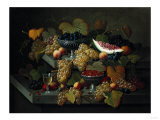 Still Life of Fruit, Circa 1854 Art by Hendrik Avercamp