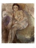 Seated Woman Giclee Print by Mary Cassatt