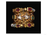 A Rare and Important Renaissance Jewelled Gold and Enamel Dated Marriage Ring, Circa 1610 Giclee Print