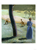 Workers in a Field at Kandern, Painted in July 1907 Giclee Print by Edgar Degas