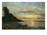 Plugastel, Sunset Over the Estuary, 1870-1873 Giclee Print by Emilio Boggio