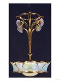 A Gilt Bronze and Glass Chandelier, Circa 1905 Prints by Franz Arthur Bischoff