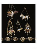 A Selection of Jewelled Gold, Enamel and Pearl Renaissance Jewellery Giclee Print