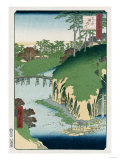 River of Waterfalls, Oji', from the Series 'One Hundred Views of Famous Places in Edo' Giclee Print by Hashiguchi Goyo