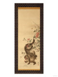 Monkeys and Roses Giclee Print by Hashiguchi Goyo