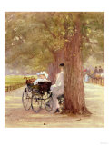 A Rest in the Row, 1892 Premium Giclee Print by Carl Frederic Aagaard