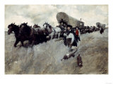 The Connecticut Settlers Entering the Western Reserve Giclee Print by Howard Pyle
