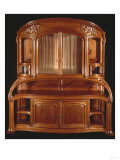 A Highly Important Carved Mahogany Sideboard Prints by Franz Arthur Bischoff
