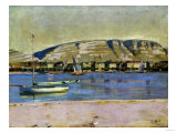 Geneva Harbour and the Saleve, 1878 Giclee Print by Edgar Degas