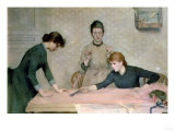 The Sewing Class Premium Giclee Print by Carl Frederic Aagaard