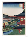 Pagoda of Zojoji, Akabane', from the Series 'One Hundred Views of Famous Places in Edo' Premium Giclee Print by Ando Hiroshige