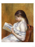 Reading, Painted in 1888 Giclee Print by Edgar Degas