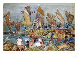At the Beach Giclee Print by Maurice Brazil Prendergast
