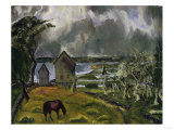 Dead Orchard Print by George Wesley Bellows