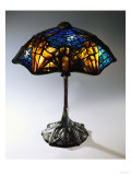 A Rare and Important Leaded Glass, Bronze and Mosaic Glass 'Bat' Table Lamp Giclee Print by Guiseppe Barovier