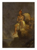 Indian Warrior on the Edge of a Precipice, 1847 Giclee Print by Charles Deas