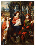 The Flight into Egypt, Anonymous, Cuzco School, 18th Century Giclee Print by Jose Agustin Arrieta