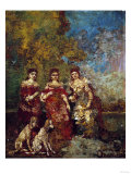 Three Women in the Park Print by Alfred Thompson Bricher