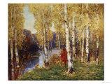 Birches Kunstdrucke von Eugène Boudin