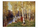 Birches Art by Eugène Boudin