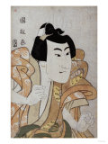 Half Length Portrait of the Actor Onoe Eizaburo in the Role Os Soga Gora Giclee Print by Hashiguchi Goyo