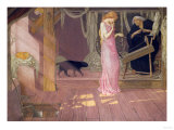 Sleeping Beauty: the Princess Pricks Her Finger Premium Giclee Print by Carl Frederic Aagaard