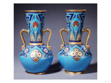 A Pair of Minton Twin-Handled Cloisonne Vases, Circa 1871 Print by Alvar Aalto
