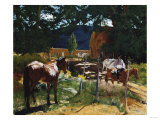 One in the Pasture Print by Walter Ufer