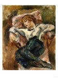 Hermine Resting, Circa 1916 Poster by Henri Edmond Cross