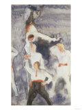 Acrobats, Balancing Act, 1916 Giclee Print by Emilio Boggio