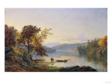 Lake George, 1871 Giclee Print by Eug&#232;ne Boudin