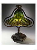 A 'Lotus Bell' Leaded Glass and Bronze Table Lamp Giclee Print by Guiseppe Barovier