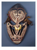 A New Guinea Wood Skull Rack in the Form of an Abstract Human Figure Prints