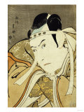 An Okubi Portrait of the Actor Ichikawa Yaozo III, Published by Uemura Giclee Print by Tani Bunchu