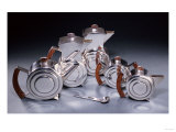 A Six Piece Silver and Rosewood Tea and Coffee Service, Circa 1934 Premium Giclee Print by Alvar Aalto