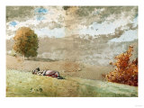 Daydreaming, 1880 Giclee Print by Winslow Homer