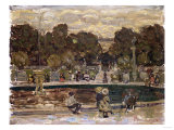 Sailboat Pond, Tuileries Garden Giclee Print by Emilio Boggio