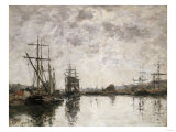 Deauville, Le Bassin, 1890 Giclee Print by Eugène Boudin