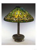 An Arrowroot Leaded Glass and Bronze Table Lamp Giclee Print by Guiseppe Barovier