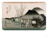 The Famous Teahouse at Mariko', Circa 1834 Prints by Ando Hiroshige